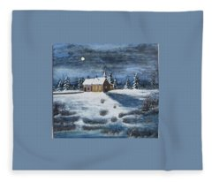 Evening Prayers Fleece Blanket
