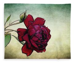Evening Rose Perfection Fleece Blanket