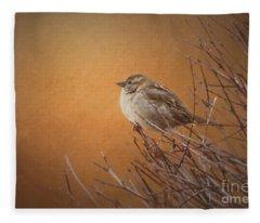 Evening Sparrow Song Fleece Blanket