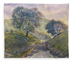 Evening Stroll In Millington Dale Fleece Blanket