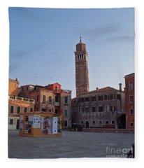 Evening Sun. Venice. Fleece Blanket
