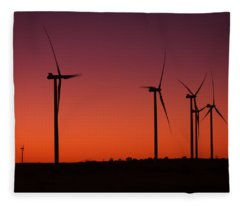 Evening Wind Fleece Blanket