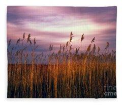 Evening's Candles Fleece Blanket