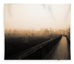 Everglades Boardwalk Fleece Blanket