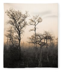Everglades Cypress Stand Fleece Blanket