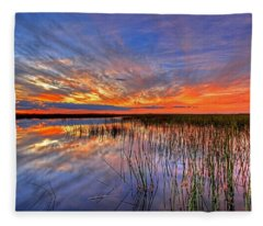 Everglades Sunset Fleece Blanket