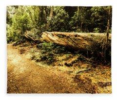 Evergreen Jungle Trails Fleece Blanket