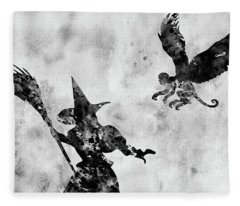 Evil Witch-black  Fleece Blanket