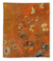 Evocation Of Butterflies Fleece Blanket