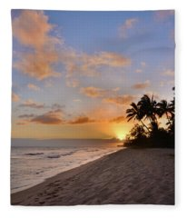 Ewa Beach Sunset 2 - Oahu Hawaii Fleece Blanket