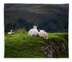 Ewe And Me Fleece Blanket