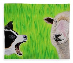 Ewe Talk'in To Me? Fleece Blanket