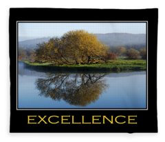 Excellence Inspirational Motivational Poster Art Fleece Blanket