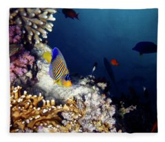 Exciting Red Sea World Fleece Blanket