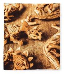 Exhibition In Prehistoric Art Fleece Blanket