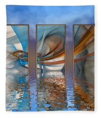 Exhibition Under The Sky Fleece Blanket