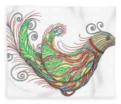 Exotic Bird I Fleece Blanket
