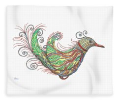 Exotic Bird I Fleece Blanket