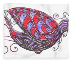Exotic Bird V Fleece Blanket