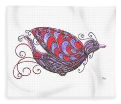 Exotic Bird V Fleece Blanket