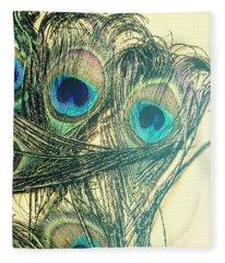 Exotic Eye Of The Peacock Fleece Blanket