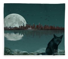 Explore By Moonlight Fleece Blanket