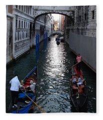 Exploring Venice Italy Fleece Blanket