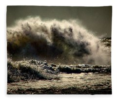 Explosion In The Ocean Fleece Blanket