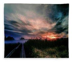 Explosive Morning #h0 Fleece Blanket