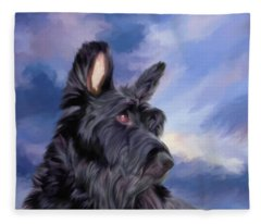 Expression Is Everything Scottish Terrier Dog Fleece Blanket