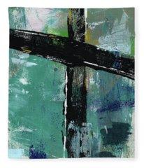 Expressionist Cross 8- Art By Linda Woods Fleece Blanket