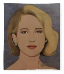 Exquisite - Jennifer Lawrence Fleece Blanket