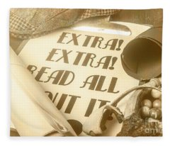 Extra Extra Read All About It Fleece Blanket