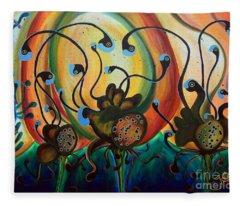 Extraterrestrial Flora Fleece Blanket
