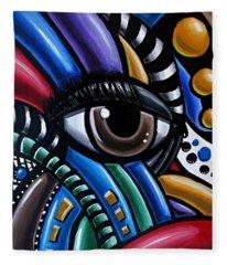 Eye Abstract Art Painting - Intuitive Chromatic Art - Pineal Gland Third Eye Artwork Fleece Blanket