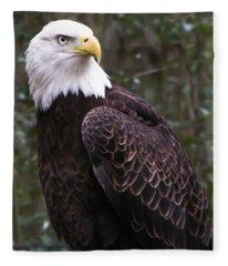 Eye Of The Eagle Fleece Blanket