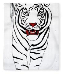 Eye Of The Tiger Fleece Blanket