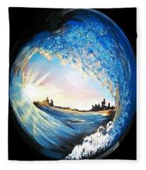 Eye Of The Wave Fleece Blanket