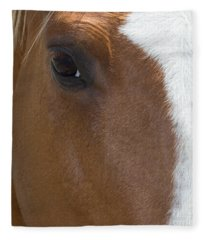 Eye On You Horse Fleece Blanket