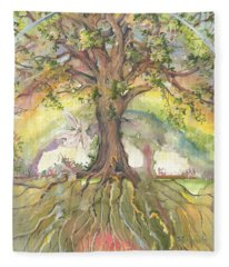 Eye See My Healing Tree Fleece Blanket
