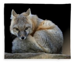 Eyes Of The Fox Fleece Blanket
