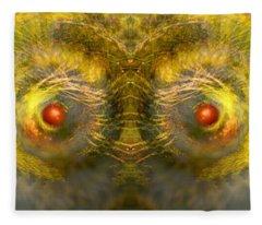 Eyes Of The Garden-1 Fleece Blanket