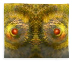 Eyes Of The Garden-1 Fleece Blanket