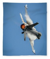 F-16 Banks Right Fleece Blanket