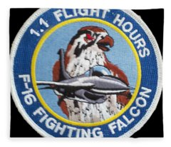F-16 Ride Patch Fleece Blanket