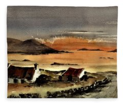 F 829  Omey Sunset, Galway Fleece Blanket