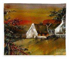 F 832 Glencree Sunset Wicklow Fleece Blanket