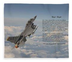 F16 - High Flight Fleece Blanket
