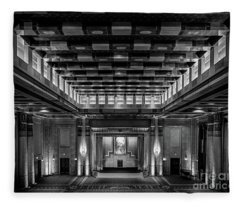 Fabulous Fox Theater Atlanta Egyptian Ballroom Fleece Blanket
