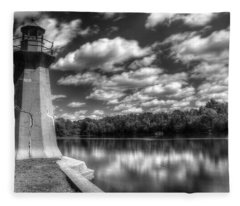 Fabyan Lighthouse On The Fox River Fleece Blanket